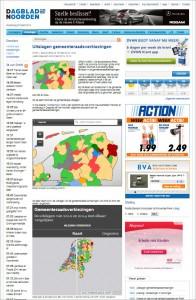 選挙速報を地図で配信