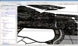 Esri CityEngine の画面