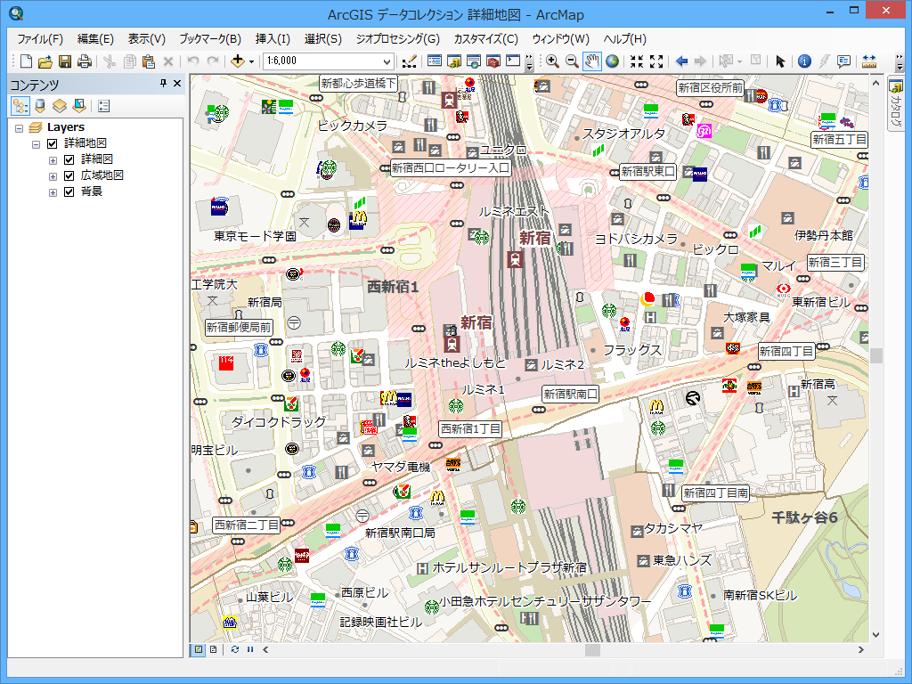 株式会社ゼンリン地図をベースにした背景地図