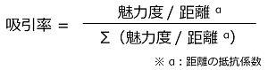 ハフモデルの計算式