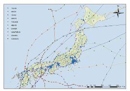 代表的な被害台風の軌跡(2003年-2011年)