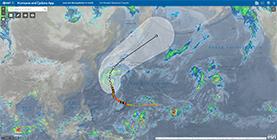 利用可能なリスク情報例(大型台風予測進路)